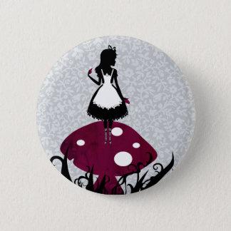 Pin's Alice dans le bouton de Pin du pays des merveilles
