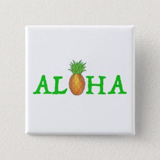 Pin's ALOHA bouton hawaïen d'ananas d'île tropicale