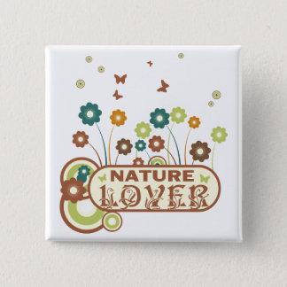Pin's Amant de nature floral