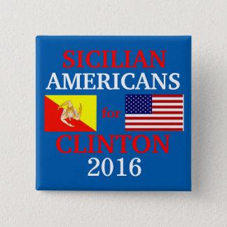 Pin's Américains siciliens pour Hillary Clinton