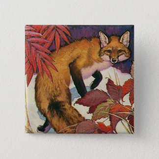 Pin's Animal sauvage rouge de Fox de créatures vintages