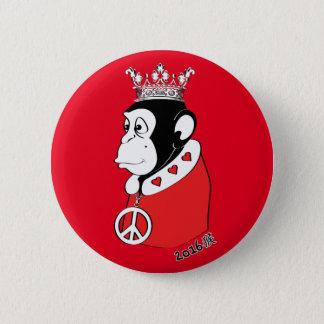 Pin's Année du roi paisible et affectueux 2016 de singe