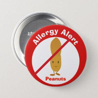 Pin's Arachides vigilantes du bouton   d'allergie