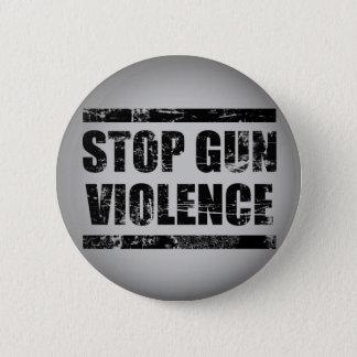 Pin's Arrêtez le bouton de violence armée