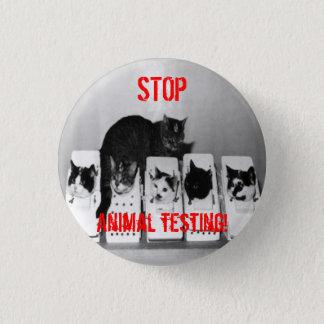 """Pin's """"ARRÊTEZ l'expérimentation animale ! Les """"chats"""