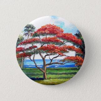 Pin's Art royal d'arbre de Poinciana