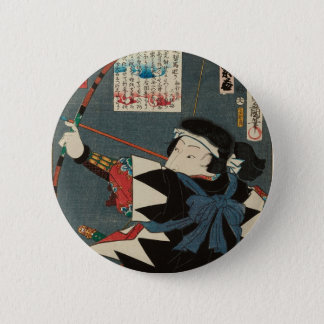 Pin's Art vintage classique d'Ukiyo-e Kyudo Archer