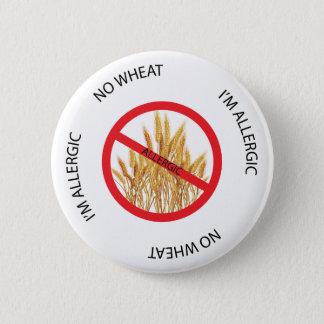 Pin's Aucun bouton d'alerte d'allergie de blé