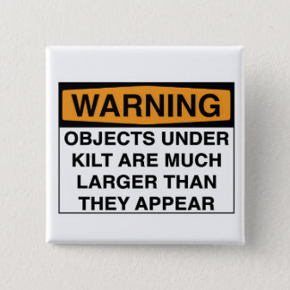 Pin's Avertissement - grands objets sous le kilt