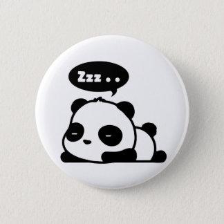 Pin's backgroud somnolent de blanc de bouton de panda
