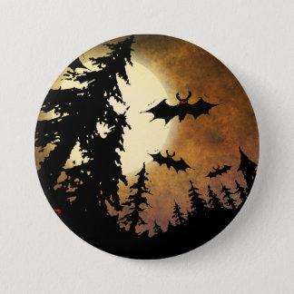 Pin's Battes de Halloween, forêt éffrayante à la pleine