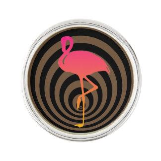 Pin's Beau flamant en cercles
