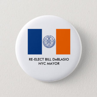 Pin's Bill DeBlasio pour maire Button de New York City