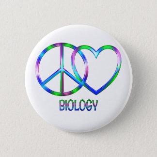 Pin's Biologie brillante d'amour de paix