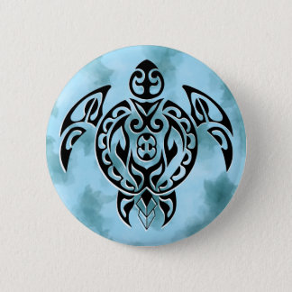 Pin's Black turtle 3 in blue