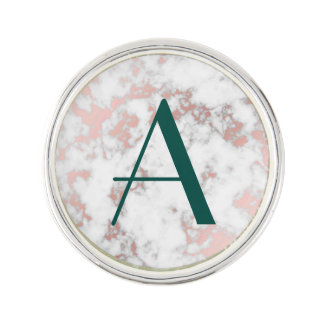 Pin's blanc, marbre, or rose, moderne, chic, beau, eleg