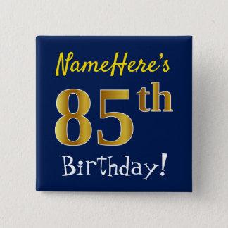 Pin's Bleu, anniversaire d'or de Faux 85th, avec le nom