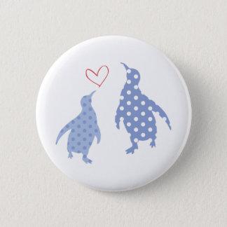Pin's bleu de bouton de pingouin