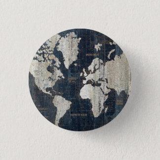 Pin's Bleu de carte de Vieux Monde