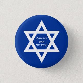 Pin's Bleu de Mitzvah de barre d'étoile de David