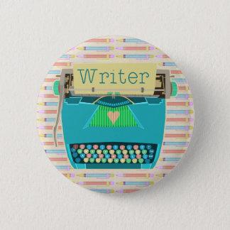 Pin's Bleu moderne mignon d'Aqua de machine à écrire