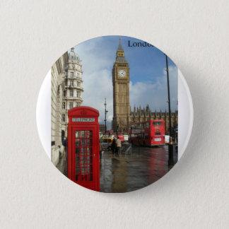 Pin's Boîte de téléphone de Londres Big Ben (par St.K)