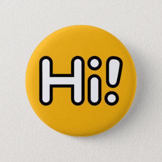 Pin's Bonjour ! Bouton - jaune