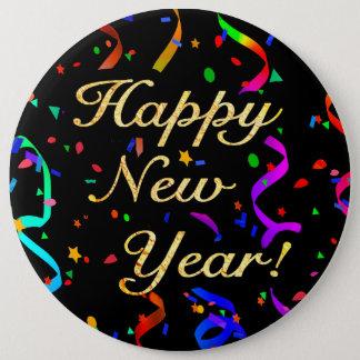 """Pin's """"Bonne année ! """"bouton colossal de 6 pouces"""