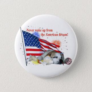 Pin's Bouledogue anglais - rêve américain