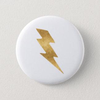 Pin's Boulon de foudre en or métallique