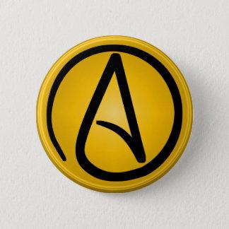Pin's Bouton athée de symbole