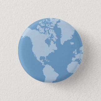 Pin's Bouton bleu de la terre