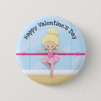 Pin's Bouton bleu rose de Saint-Valentin de ballerine