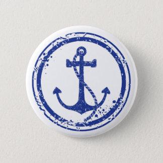 Pin's Bouton bleu vintage nautique d'ancre