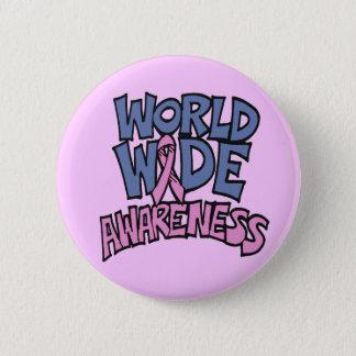 Pin's Bouton - cancer du sein de conscience du monde