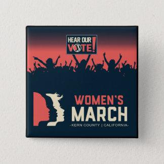 Pin's Bouton carré de mars Kern des femmes