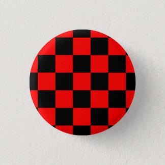 Pin's Bouton carreau noir/rouge