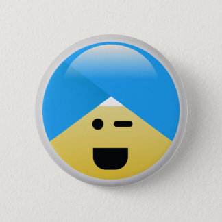 Pin's Bouton clignotant américain sikh d'Emoji de turban