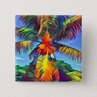 Pin's Bouton coloré de palmier de noix de coco