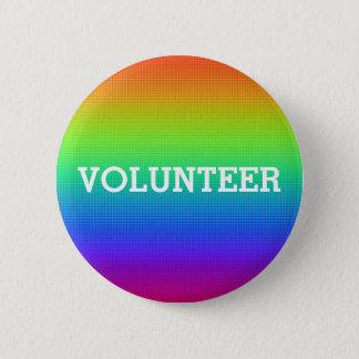 Pin's Bouton coloré de volontaire d'arc-en-ciel