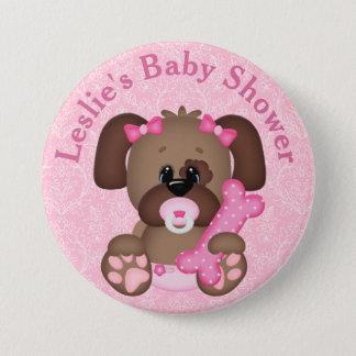 Pin's Bouton customisé de baby shower de chiot