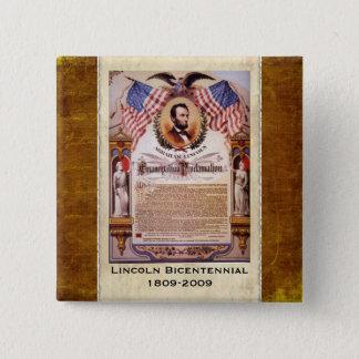 Pin's Bouton daté de proclamation de The Emancipation