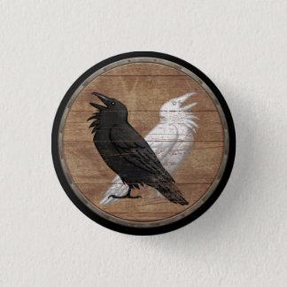 Pin's Bouton de bouclier de Viking - Ravens d'Odin