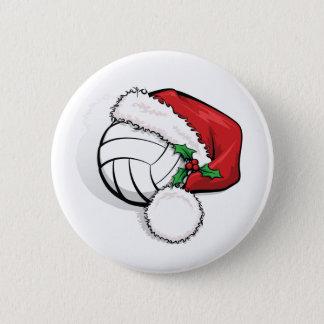 Pin's Bouton de casquette de Père Noël de volleyball