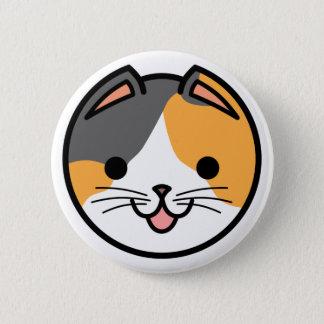 Pin's Bouton de chat de calicot