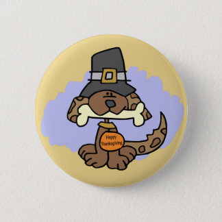 Pin's Bouton de chiot de thanksgiving