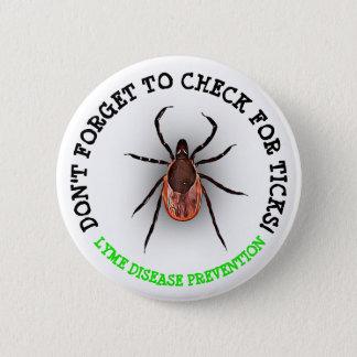 Pin's Bouton de conscience de la maladie de Lyme de