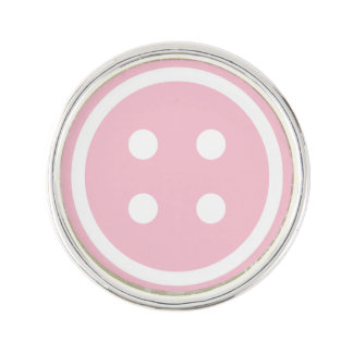 Pin's Bouton de couture rose