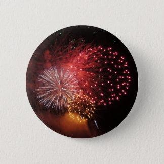 Pin's Bouton de feux d'artifice - feux d'artifice rouges