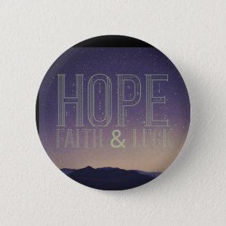 Pin's Bouton de foi et de chance d'espoir